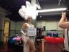 Bling Divas showgirls on set for Alicia Keys