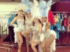 Bling Divas in silver showgirl costumes