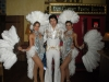 showgirls in silver with Elvis